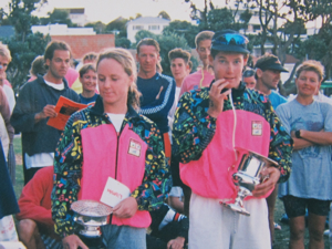 The 1991 Stroke & Stride Series Champions Megan Robertson and Cameron Brown