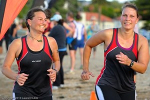 Cushla Salt & Janelle Smith back on the beach for the finish