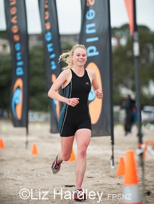 Sophie Corbidge at the finish