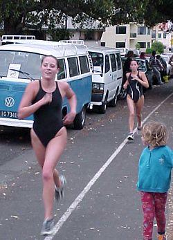 Rebecca Nesbit leading Hayley Swaving