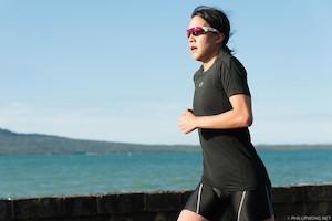 Yuko enjoys the magnificent Auckland scenery