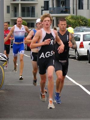 Ben Marshall & Darragh Walshe & Cameron Burstall & Carl Read start the run