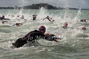 the swim was only 500 metre and that made it fast and furious from the start