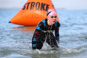Jacey Cropp kept her end up leading the swim in