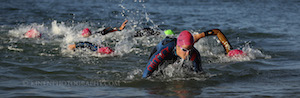but still close after a kilometre of swimming