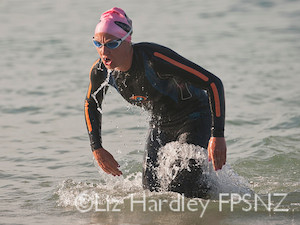 but after a kilometre of swimming it was down to Penny Hayes and her four associates