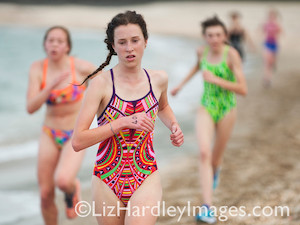 and brightening the day saw Millie Anderson leading in the fluoro brigade