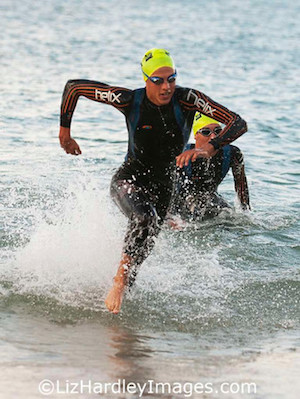 Cameron Todd stayed with Jay Wallwork to the end of the swim leg