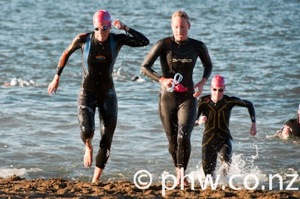 Simone Ackermann & Rebecca Clarke & Elizabeth May hitting the beach