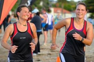 Cushla Salt & Janelle Smith back on the beach for the finish