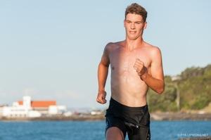 Sam Franklin backs up his swim with a fine run