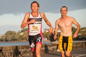 Samantha Warriner blew past everyone out on the run course including Ian Robertson