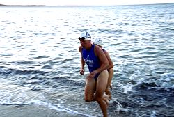 Samantha Warriner on her way to victory