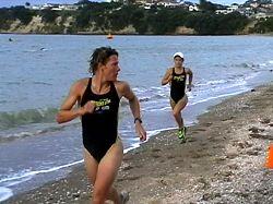 Samantha Warriner leads Debbie Tanner