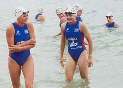 Anna Elvery and Nicola de Lautour